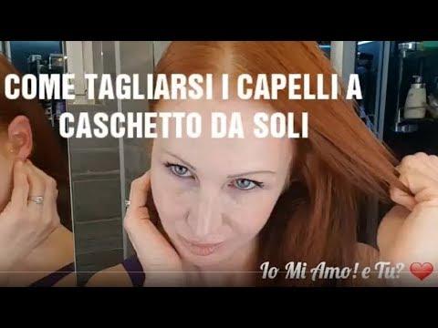 3 Minuti Per Tagliarsi I Capelli Da Sola A Caschetto Youtube