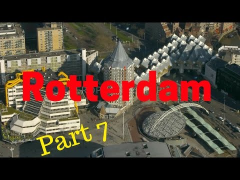 Rotterdam, The Netherlands.. City Tour (Part7/12) Kolk/Blaak station/cube houses (4K)