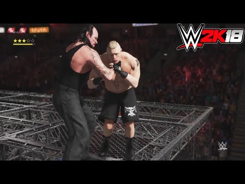WWE-2K18-Brock Lesnar vs.The Undertaker - Hell In A Cell Match- -Hell In A Cell 2018