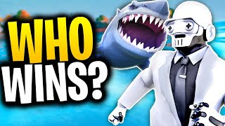 What Happens When A SHARK FIGHTS A HENCHMEN? | Fortnite Mythbusters!