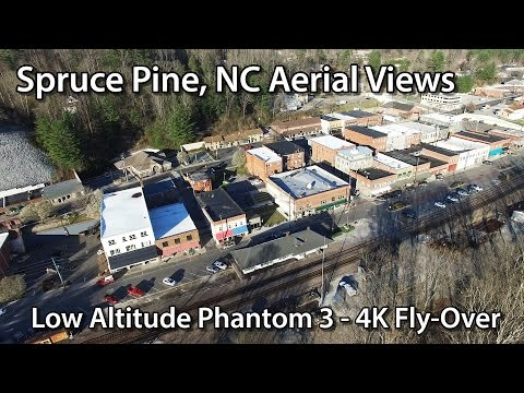 Spruce Pine NC from the Air - 4K Phantom 3 Fly-Over