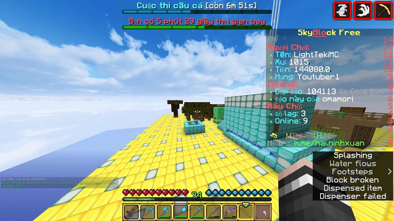 Review Minecraft Skyblock Free Server VietNam  Minecraft Server
