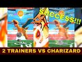 Pokemon Go: Let's DUO! 2 PLAYERS defeated Charizard Raid Boss!!! 兩人打敗噴火龍