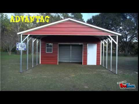 Shed4less metal carports youtube for Sheds 4 less