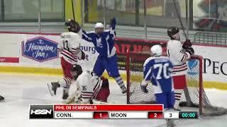 PIHL Semifinals Hockey Highlights of Connellsville vs Moon