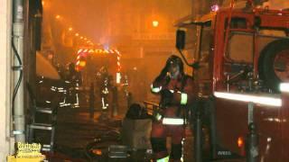 Incendie dans la rue d' aubagne a Marseille