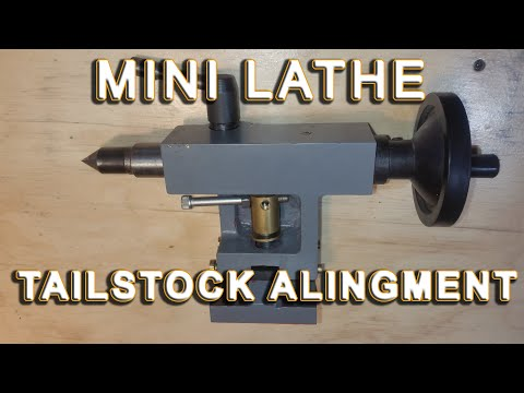 Mini Lathe tailstock centering: The definitive video guide