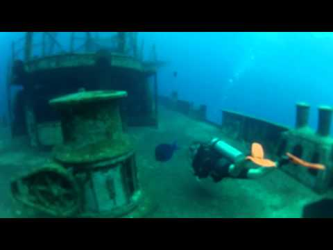 Cayman scuba diving, Cable Wall/Kittiwake, with Music