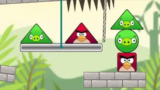 Angry Birds Pigs Out - THROW OUT THE SQUARE BIRDS TO RESCUE ALL PIGS!