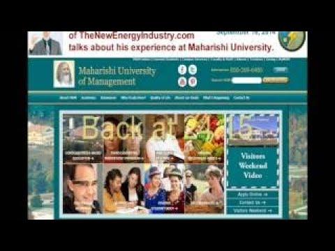 Joshua Thomas Vojtisek describes Maharishi University in Fairfield, Iowa, USA