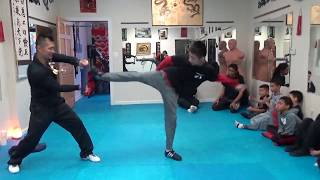 Kung Fu Kids - Side Kick Board Breaking Test