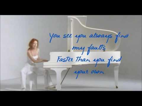 tori amos upside down lyric video