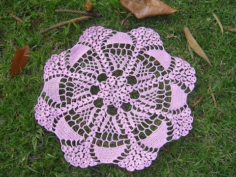 Crochet Tutorial On Dailymotion : Download video: Como hacer tapete o centro de mesa a crochet tutorial
