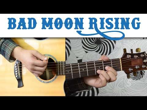 Bad Moon Rising - CCR | Easy Guitar Lesson, Basic Chords and Strumming