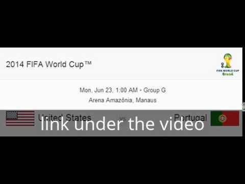 USA Vs. Portugal World Cup Live Stream 23-6-2014