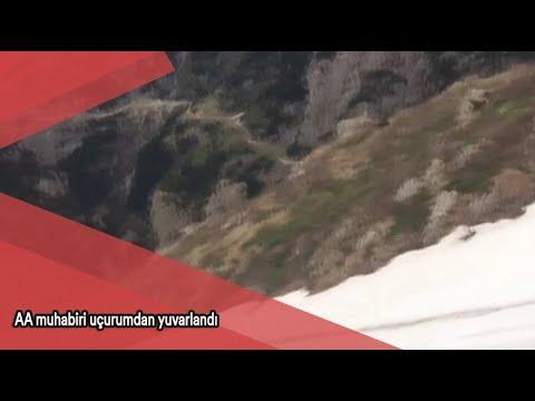 AA muhabiri uçurumdan yuvarlandı