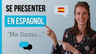 SE PRÉSENTER en Espagnol - Apprendre l'Espagnol - Phrases de Voyage #1