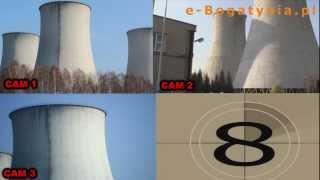 Wyburzanie chłodni kominowej w Elektrowni Turów [e-Bogatynia.pl]