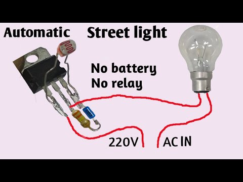 Automatic street light   Light sensor   Street light without battery and relay