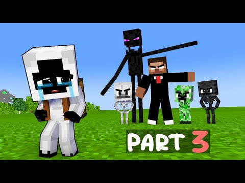 """Download PART 3: """"ENTITY is an ADOPTED CHILD"""": Monster School HATES Entity: Very Touching Minecraft Story"""