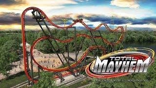 Total Mayhem Roller Coaster Teaser w POV Shots Six Flags Great Adventure 2016