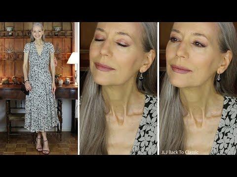 Style Over 50: Favorite Black Floral Midi Dresses; Clean-Makeup Eyeshadow Palette / Classics