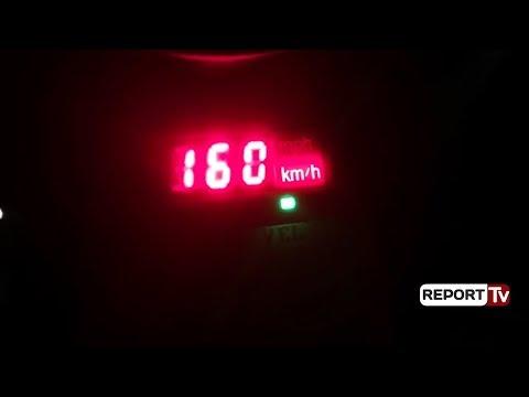 Report TV - Shpejtësi tej normave në autostradën Tiranë-Durrës, gjobiten 15 shoferë