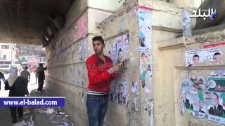 بالفيديو والصور.. حى المنتزه بالإسكندرية يزيل الدعاية الانتخابية للمرشحين