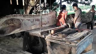 Primitive Technology: Big and Heavy Wood Pics Cutting and Carrying in Saw Mill Bangladesh