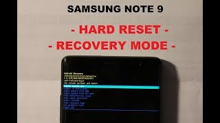 Samsung Note 9 HARD RESET AND RECOVERY MODE