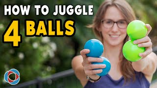 Learn to JUGGLE 4 BALLS - Intermediate Tutorial