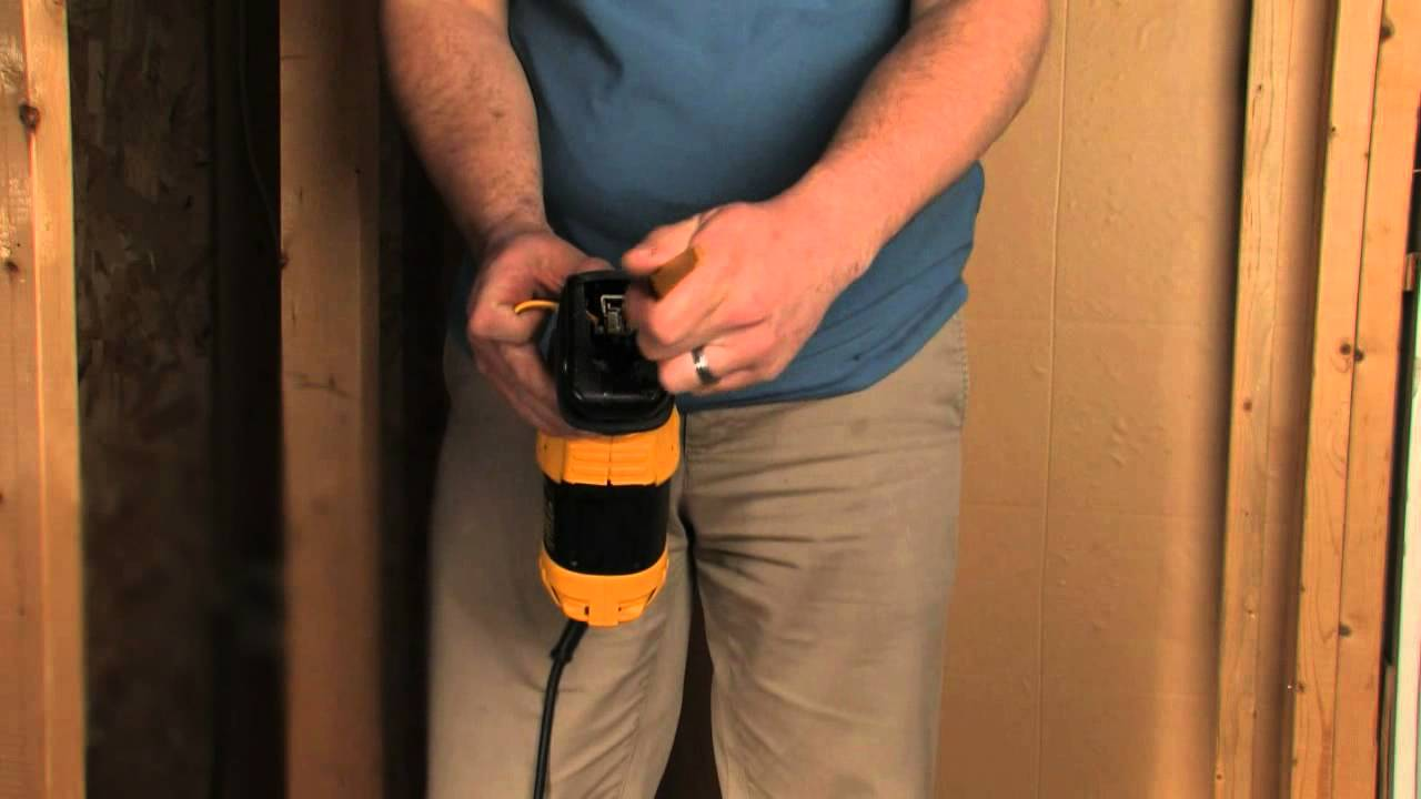 Dewalt dwe357 recip saw 4 position blade clamp youtube greentooth Image collections