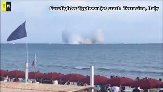 Italian Eurofighter Typhoon Jet Crashed Into Sea !!