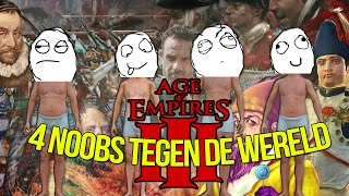 Age of empires  - 4 Strategygame noobs vs The world!