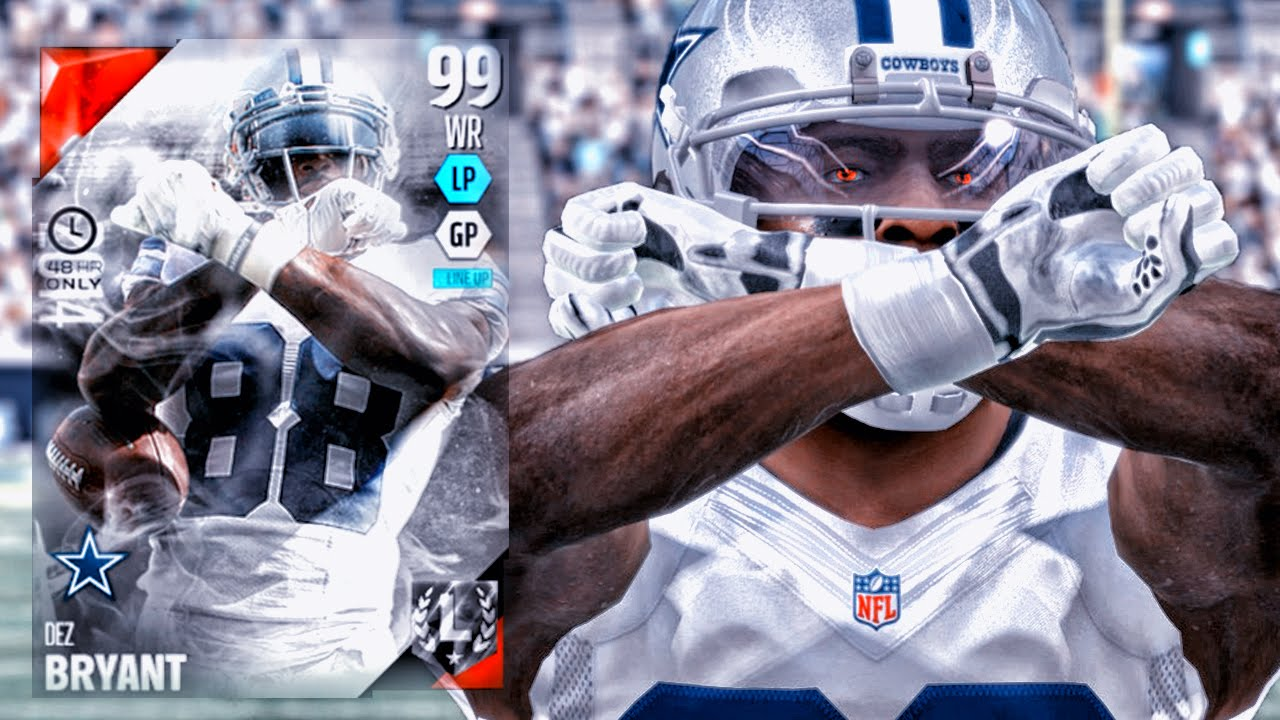 99 Boss Dez Bryant Throwing Up The X Madden 16 Ultimate Team Gameplay Ep 40