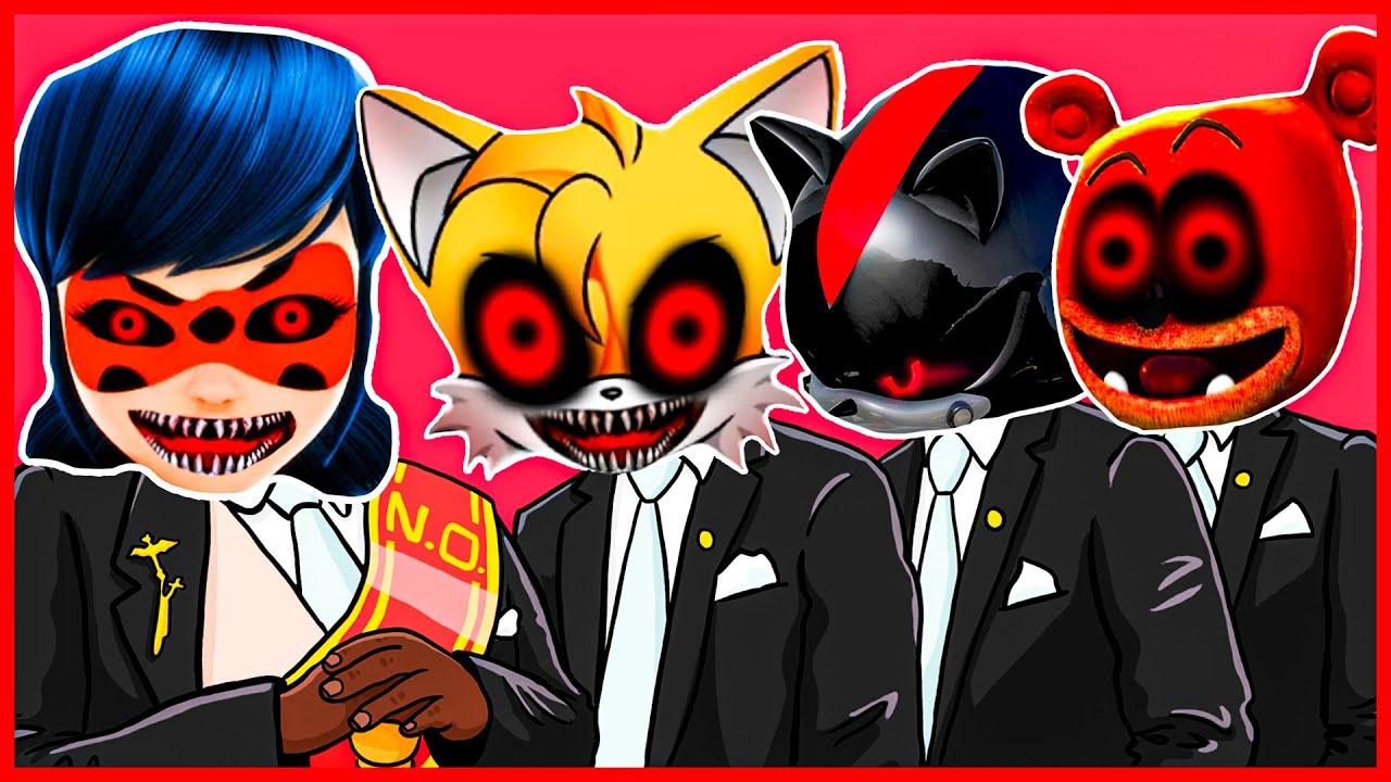 Ladybug.EXE & Tails.EXE & Metal Sonic.EXE & Gummy Bear.EXE - Meme Coffin Dance COVER