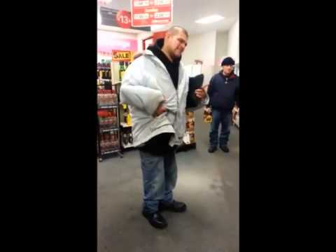 Drunk Caught Stealing Bottles of Alcohol From Liquor Store