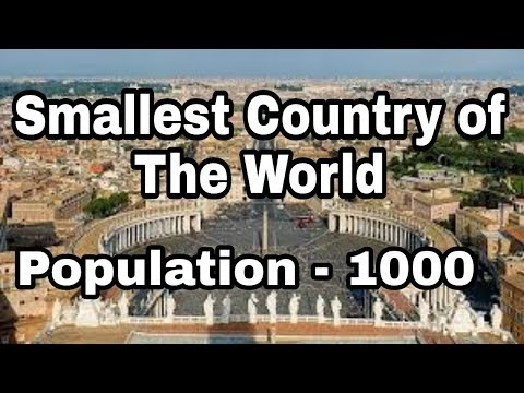Smallest country of the world Vatican city