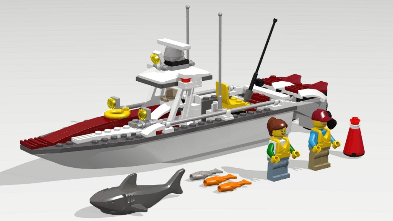 Lego city 60147 fishing boat speed build instruction for Build fishing boat