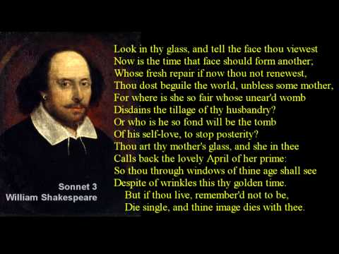 Sonnet 3 ~ William Shakespeare ~ with text