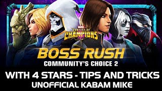 Community's Choice Boss Rush Challenge 2 with 4 stars + guide - Marvel Contest of Champions