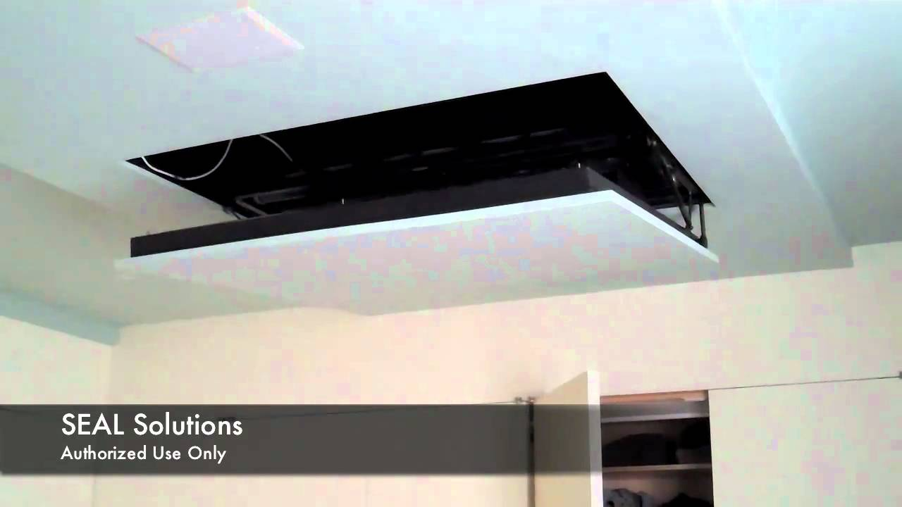seal solutions - motorized flip down auton tv lift - youtube