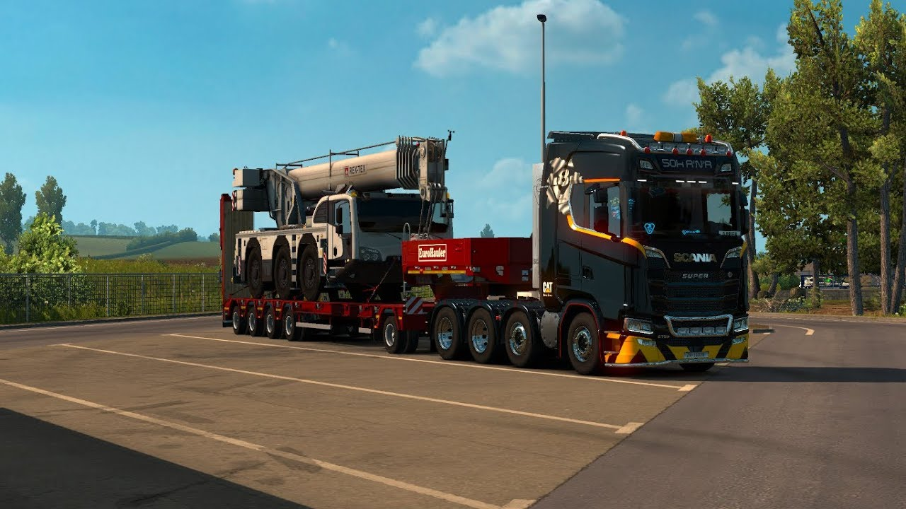 Euro Truck Simulator 2 8x4 Chis Pack For New Scania Generation Cat Skin Heavy Cargo
