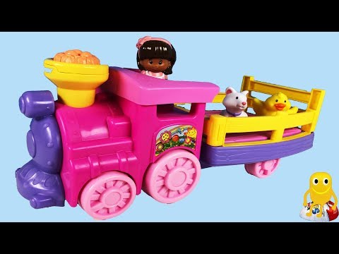 Little People Musical Zoo Train with Surprise Eggs Kids Toys Opening Kindy Fun Toys Collector