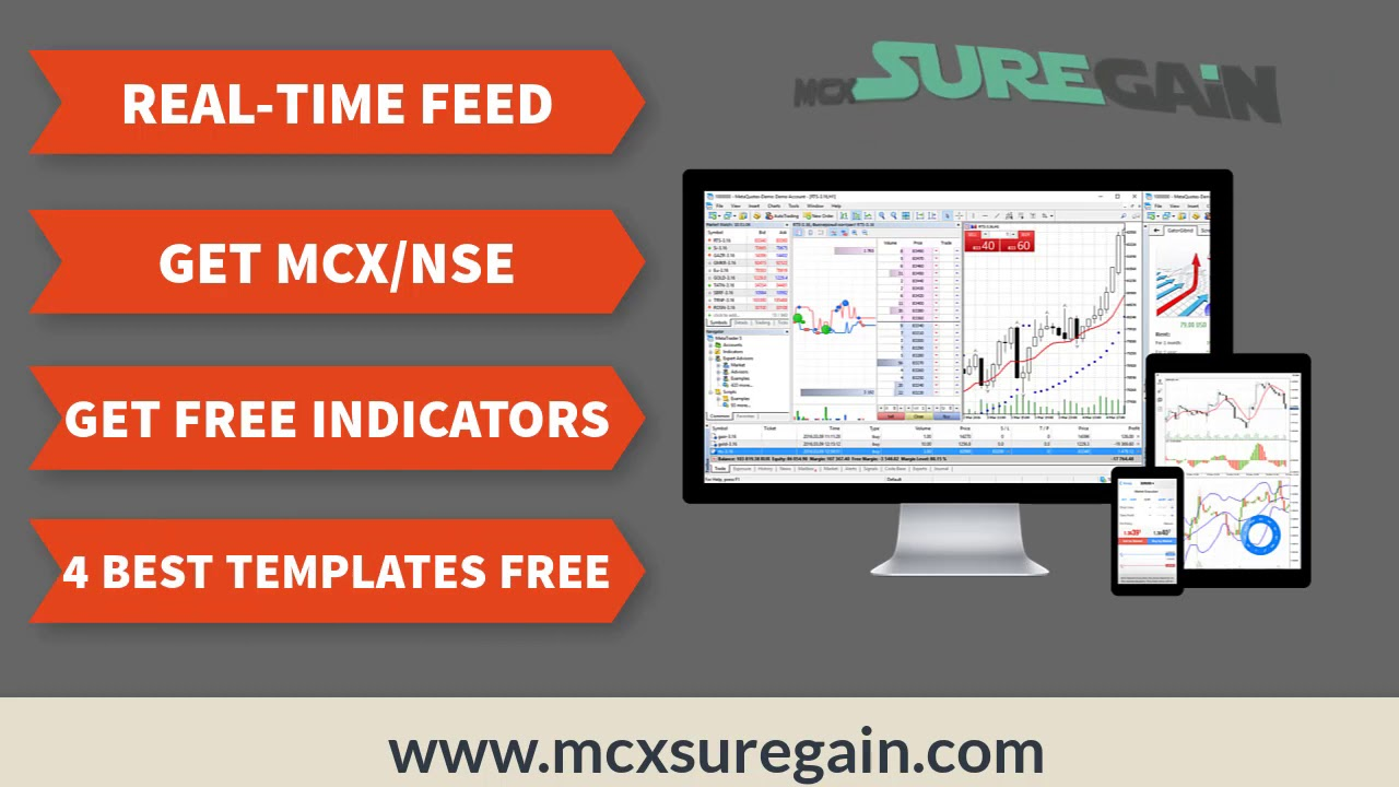 Mt4 Data Feed Mt4 Charts For Mcx And Nse Mcx Sure Gain Youtube