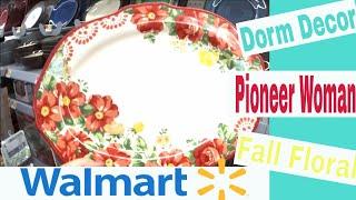 Walmart Shop with Me! Dorm Decor, Pioneer Woman & Fall Floral! thumbnail