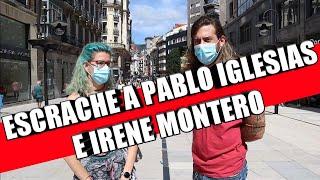 ESCRACHE A PABLO IGLESIAS E IRENE MONTERO