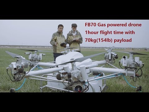 70kg gas powered drone agriculture sprayer crop dusting drone