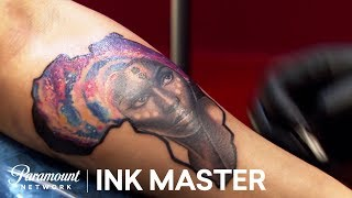 'Galaxy Tattoos' Elimination Challenge Official Highlight | Ink Master: Grudge Match (Season 11)