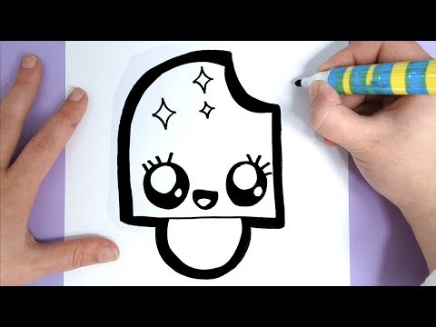 How To Draw A Super Cute And Easy Ice Cream For Kids Youtube